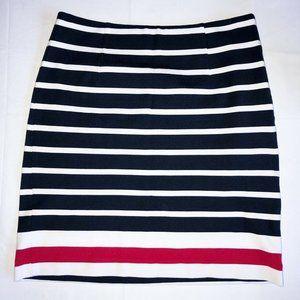 Banana Republic Red White Blue Stripe Knit Skirt